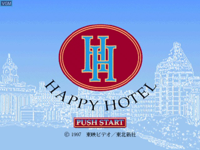 Title screen of the game Happy Hotel on Sony Playstation