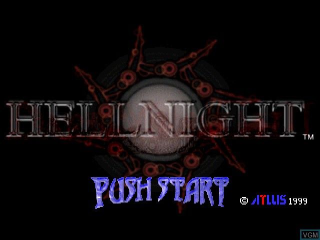 Title screen of the game Hellnight on Sony Playstation