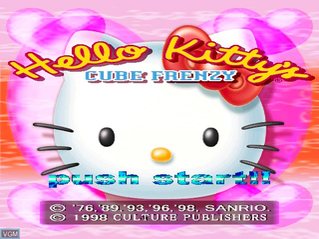 Title screen of the game Hello Kitty - Cube Frenzy on Sony Playstation
