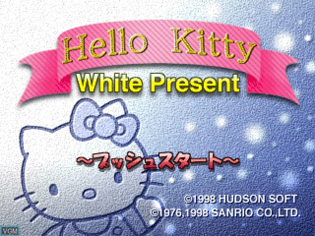 Title screen of the game Hello Kitty - White Present on Sony Playstation