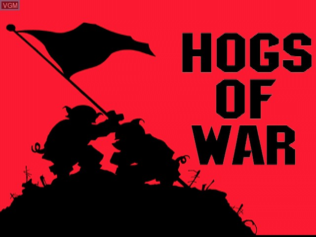 Title screen of the game Hogs of War on Sony Playstation