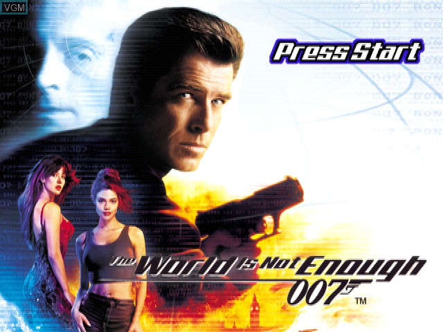Title screen of the game 007 - The World Is Not Enough on Sony Playstation