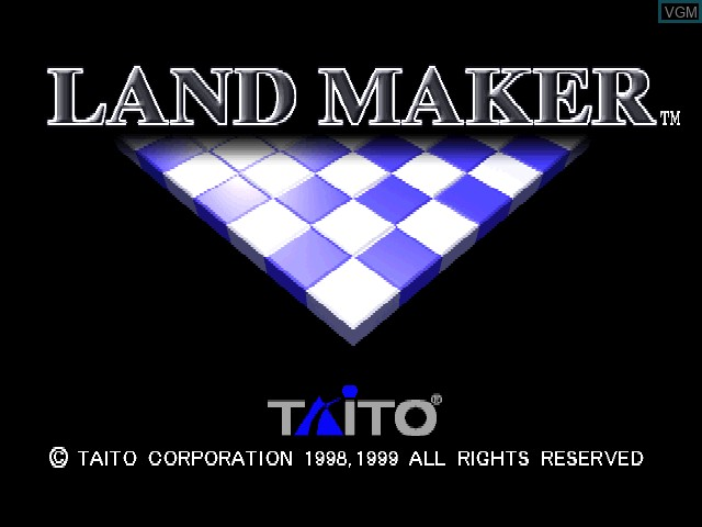 Title screen of the game Land Maker on Sony Playstation