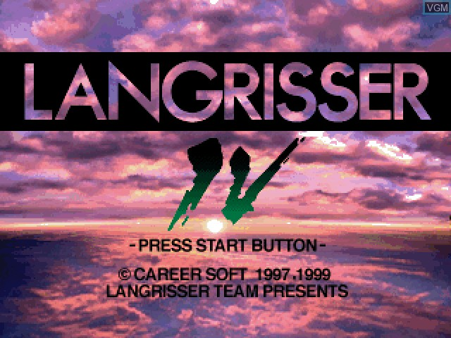 Title screen of the game Langrisser IV & V Final Edition on Sony Playstation