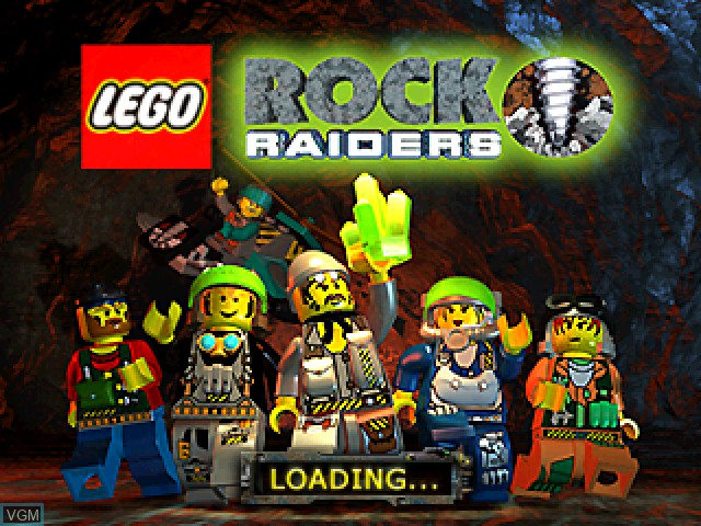 Title screen of the game LEGO Rock Raiders on Sony Playstation