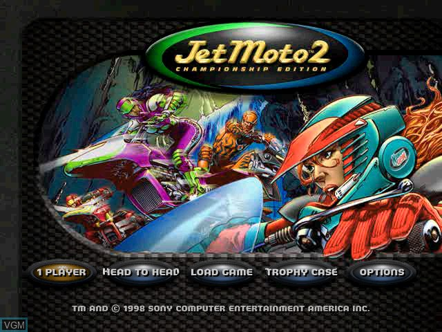 Title screen of the game Jet Moto 2 on Sony Playstation
