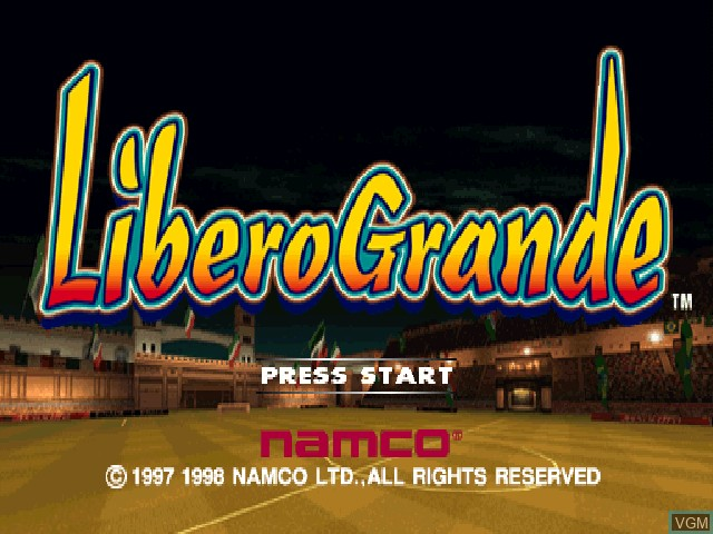 Title screen of the game LiberoGrande on Sony Playstation