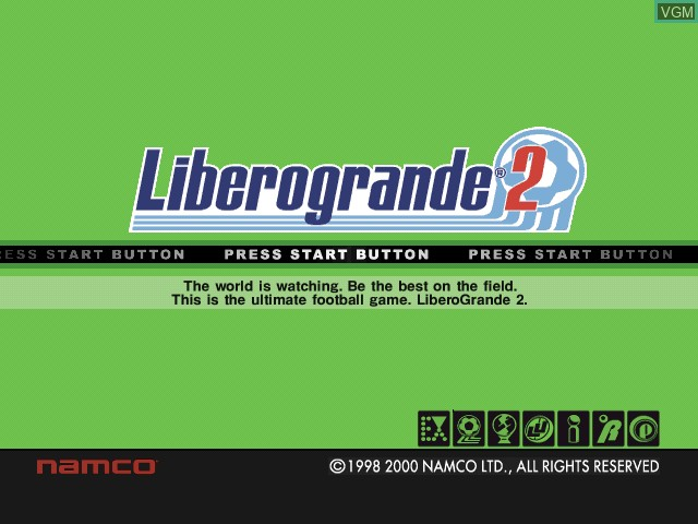Title screen of the game Libero Grande 2 on Sony Playstation