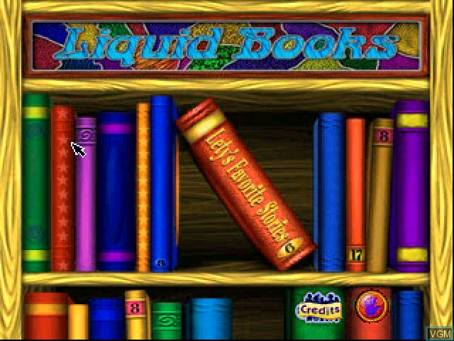 Title screen of the game Liquid Books Adventure 1 - Lety's Favorite Stories on Sony Playstation