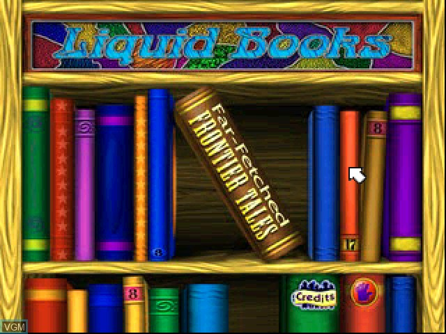 Title screen of the game Liquid Books Adventure 3 - Far-Fetched Frontier Tales on Sony Playstation