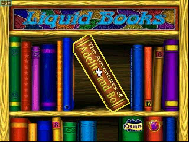 Title screen of the game Liquid Books Adventure 4 - The Adventures of Adelita and Bo on Sony Playstation