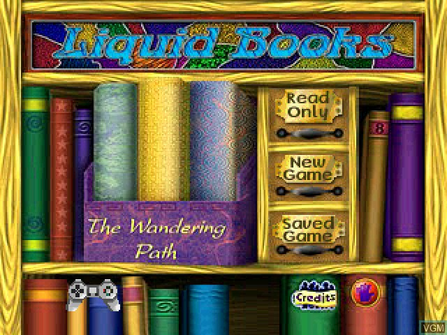 Title screen of the game Liquid Books Adventure 6 - The Wandering Path on Sony Playstation