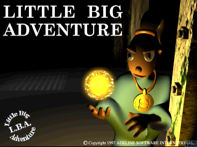 Title screen of the game Little Big Adventure on Sony Playstation