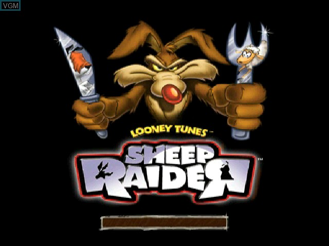 Title screen of the game Looney Tunes - Sheep Raider on Sony Playstation