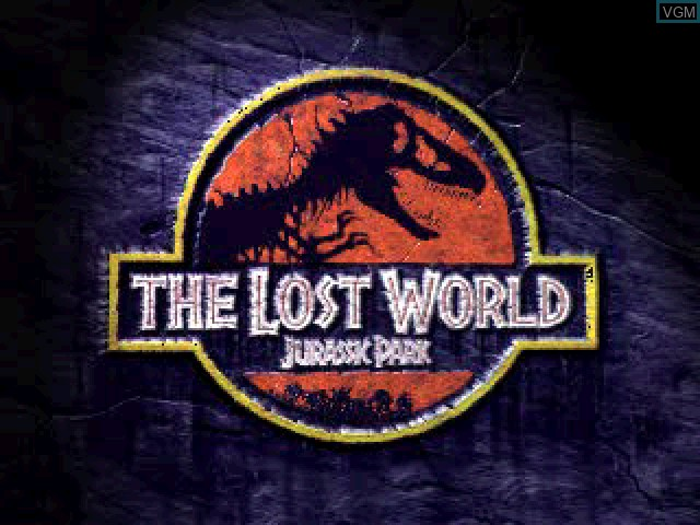 Title screen of the game Lost World, The - Jurassic Park on Sony Playstation