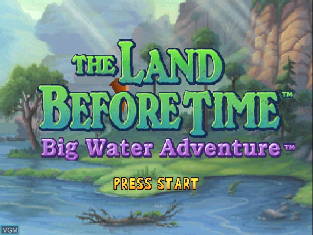Title screen of the game Land Before Time, The - Big Water Adventure on Sony Playstation