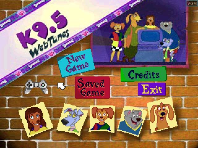 Title screen of the game K9.5 3 - Webtunes on Sony Playstation