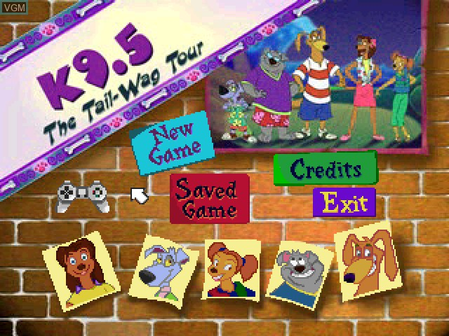 Title screen of the game K9.5 4 - The Tail-Wag Tour on Sony Playstation