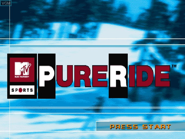Title screen of the game MTV Sports - Pure Ride on Sony Playstation