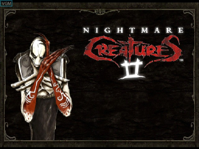 Title screen of the game Nightmare Creatures II on Sony Playstation