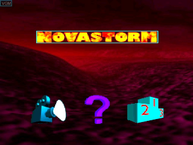 Title screen of the game Novastorm on Sony Playstation