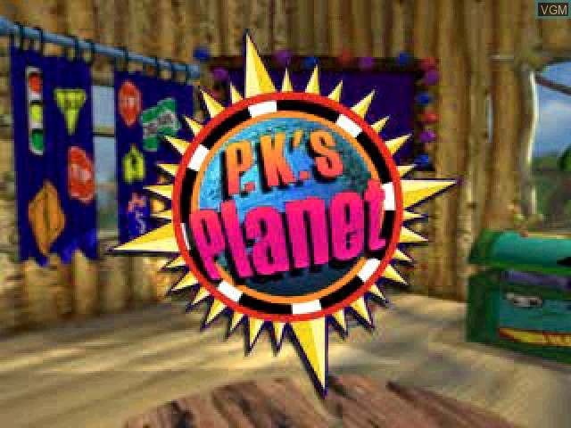 Title screen of the game P.K.'s Place 1 - Party on the Patio! on Sony Playstation