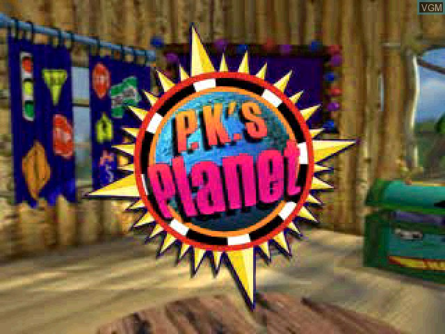 Title screen of the game P.K.'s Place 2 - Hoopo at Sea on Sony Playstation