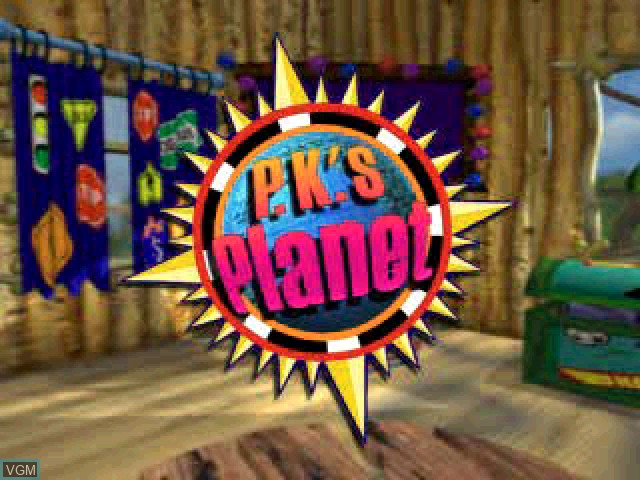 Title screen of the game P.K.'s Place 3 - Carlos at the Races! on Sony Playstation