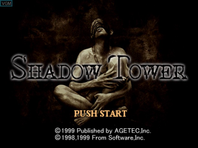 Title screen of the game Shadow Tower on Sony Playstation