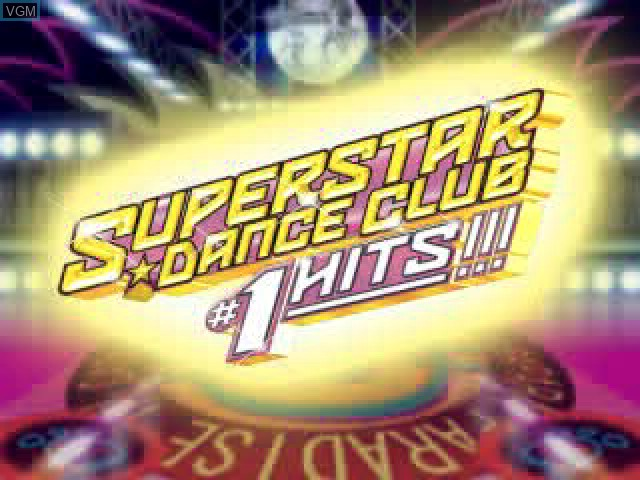 Title screen of the game Superstar Dance Club - #1 Hits!!! on Sony Playstation