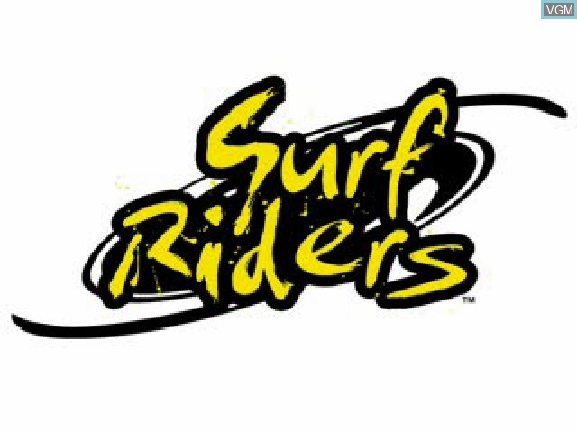 Title screen of the game Surf Riders on Sony Playstation