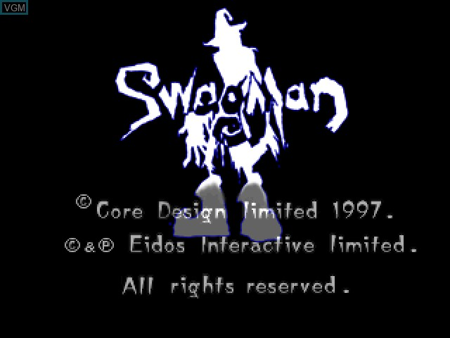 Title screen of the game Swagman on Sony Playstation