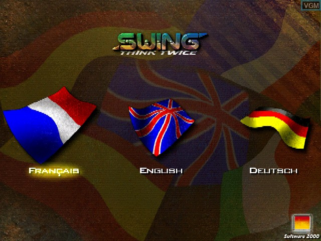 Title screen of the game Swing on Sony Playstation
