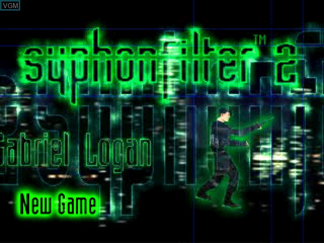 Title screen of the game Syphon Filter 2 on Sony Playstation