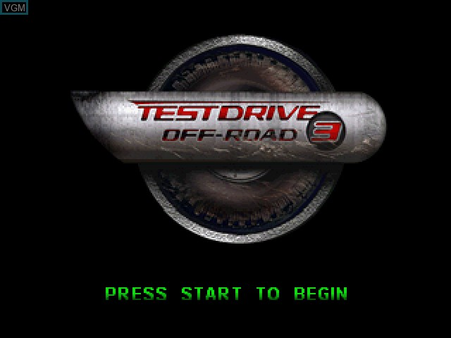 Title screen of the game Test Drive Off-Road 3 on Sony Playstation