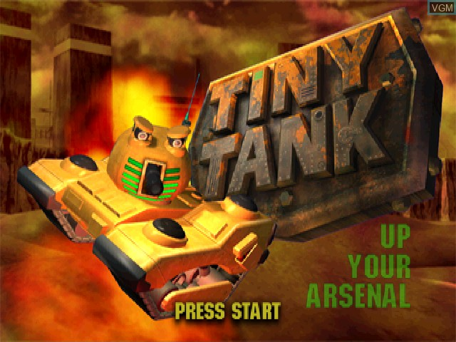 Title screen of the game Tiny Tank on Sony Playstation