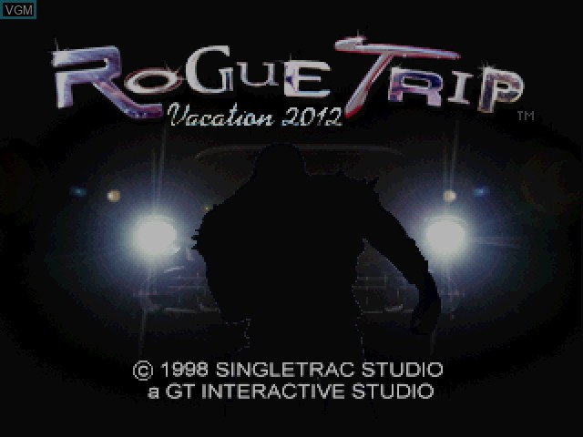 Title screen of the game Rogue Trip - Vacation 2012 on Sony Playstation