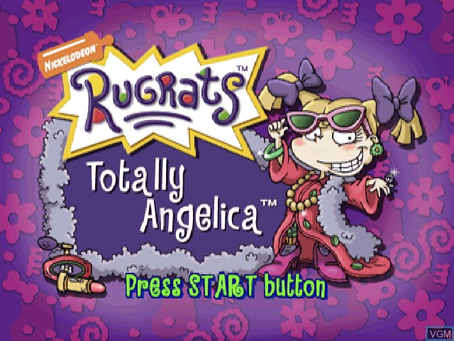 Title screen of the game Nickelodeon Rugrats - Totally Angelica on Sony Playstation