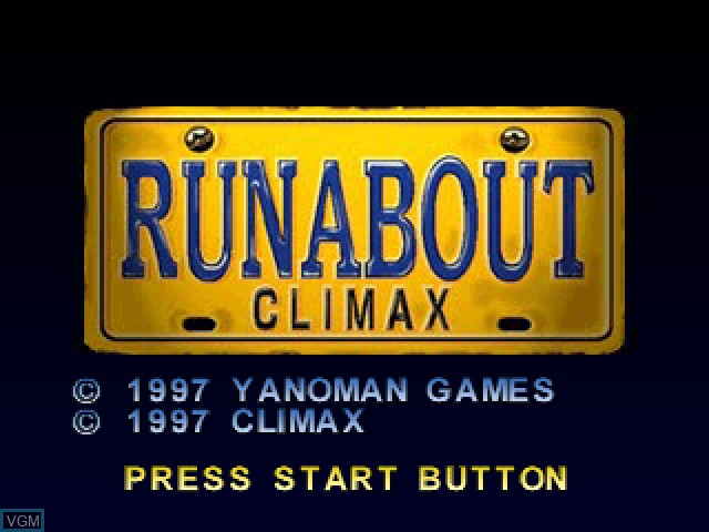 Title screen of the game Runabout on Sony Playstation