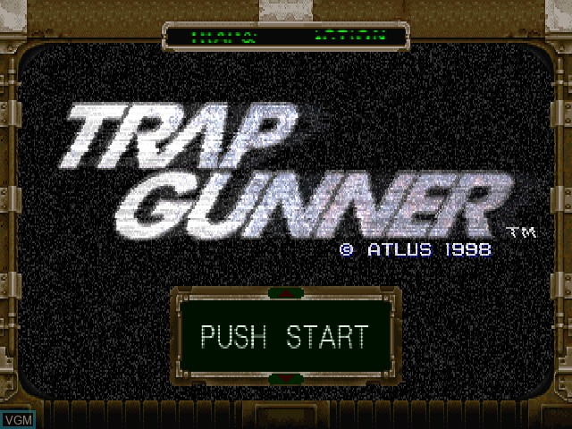 Title screen of the game Trap Gunner on Sony Playstation