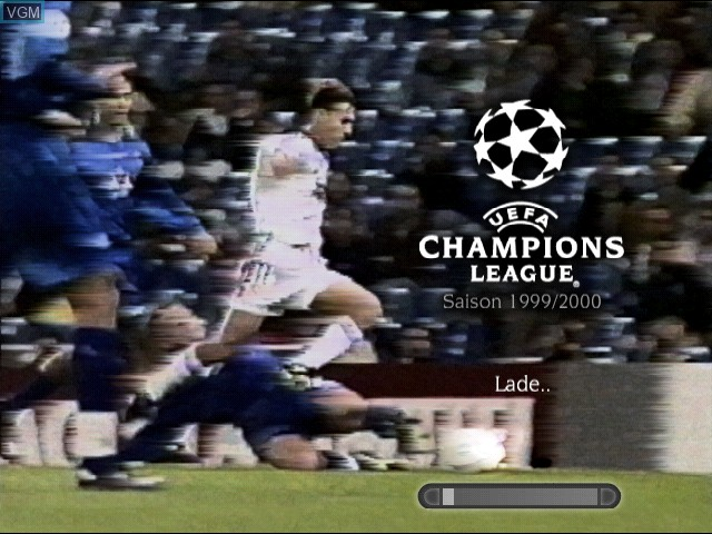 Title screen of the game UEFA Champions League - Season 1999-2000 on Sony Playstation