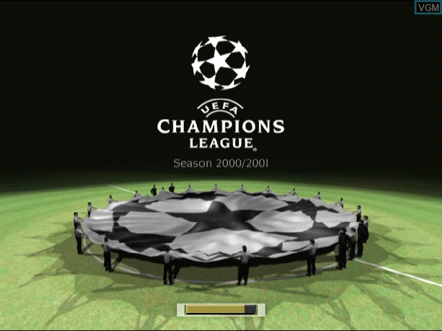 Title screen of the game UEFA Champions League - Season 2000-2001 on Sony Playstation