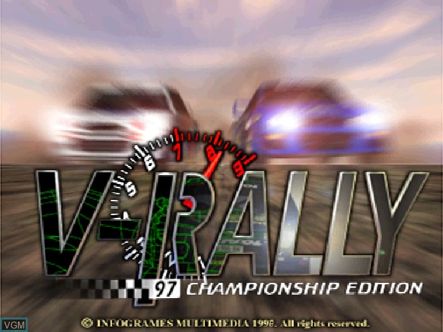 Title screen of the game V-Rally - 97 Championship Edition on Sony Playstation