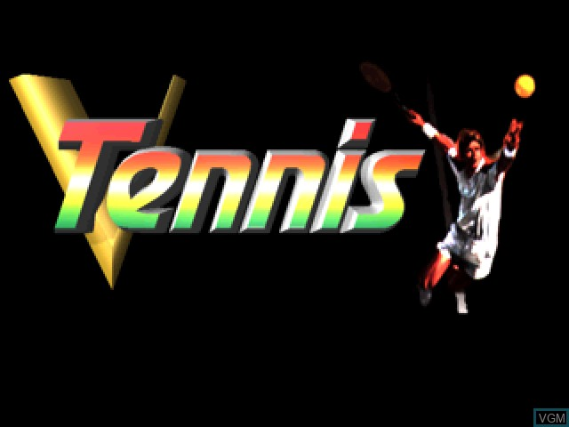 Title screen of the game V-Tennis on Sony Playstation