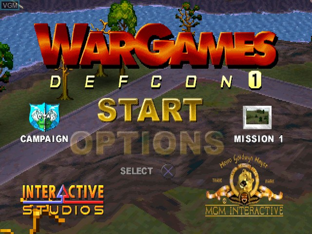 Title screen of the game WarGames - Defcon 1 on Sony Playstation