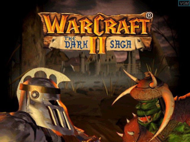 Title screen of the game WarCraft II - The Dark Saga on Sony Playstation