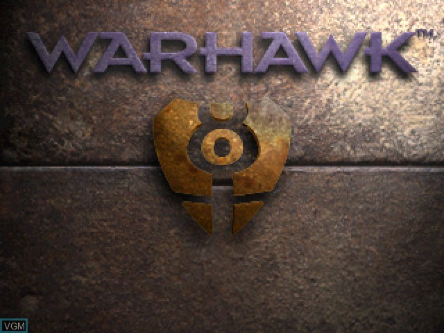Title screen of the game Warhawk - The Red Mercury Missions on Sony Playstation