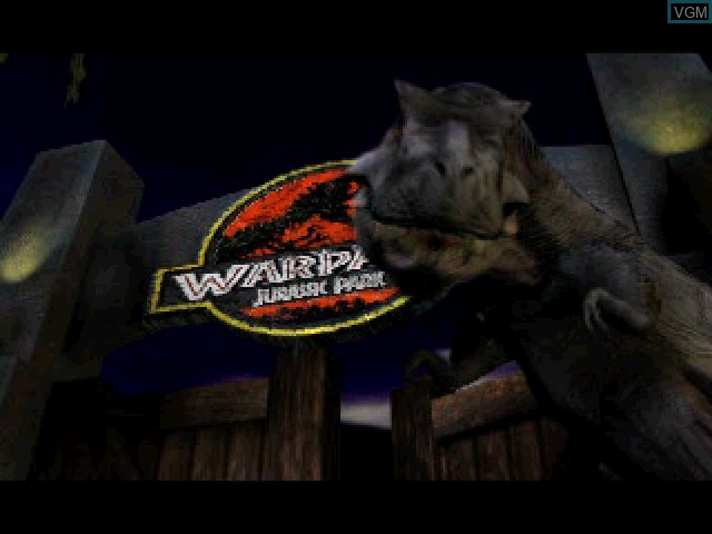 Title screen of the game Warpath - Jurassic Park on Sony Playstation