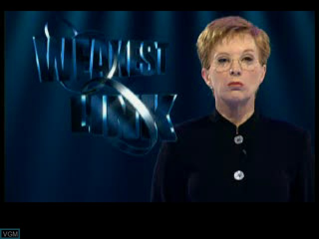 Title screen of the game Weakest Link, The on Sony Playstation
