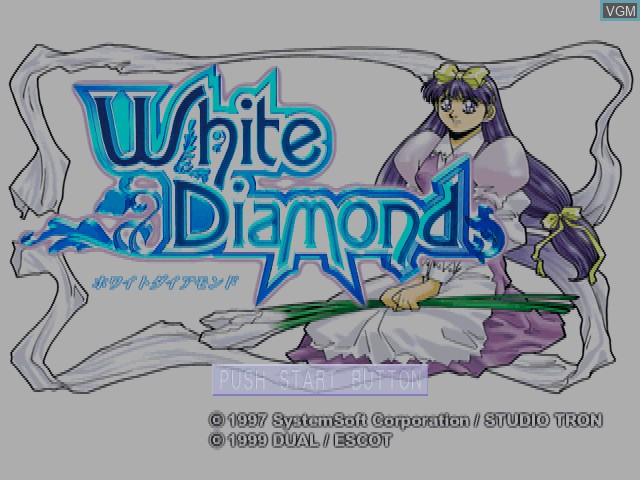 Title screen of the game White Diamond on Sony Playstation